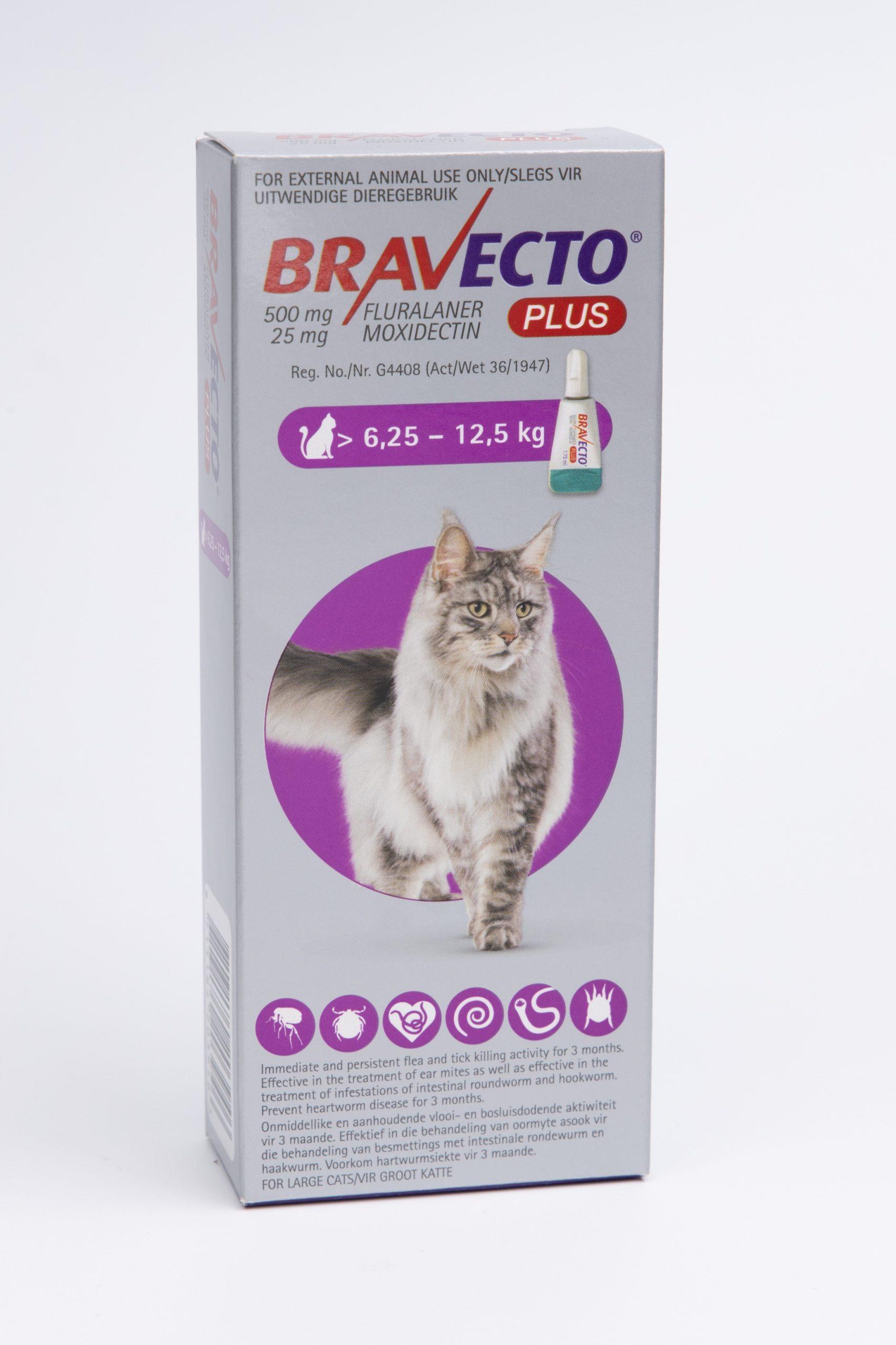 BRAVECTO PLUS Cat Spot-on Large 6.25Kg – 12.5Kg