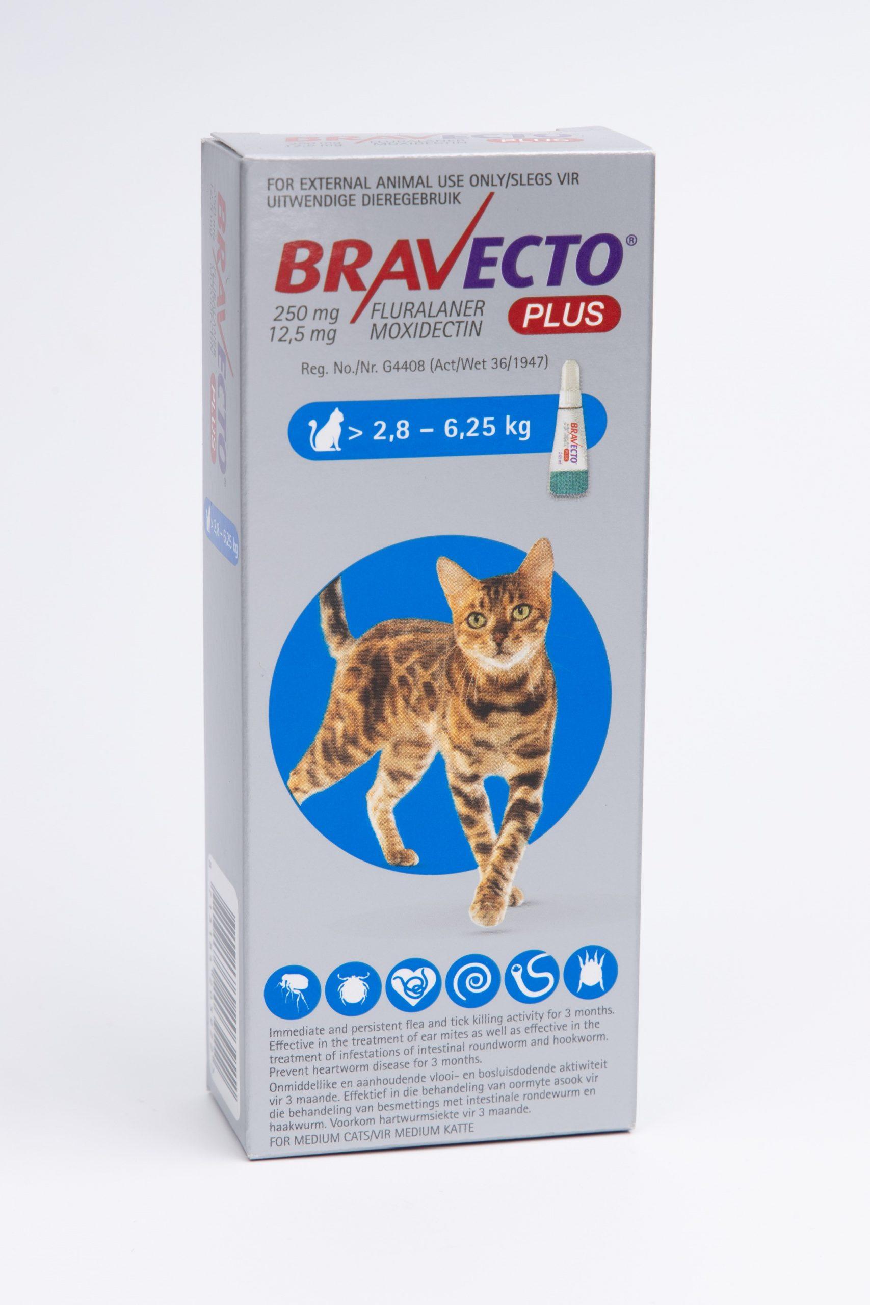 BRAVECTO PLUS Cat Spot-On Medium 2.8Kg – 6.25Kg