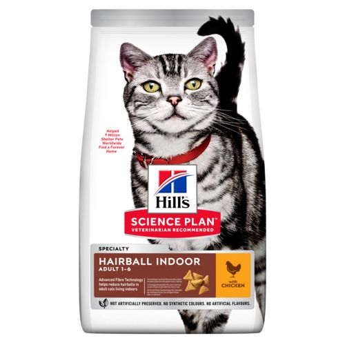 Hill's Science Plan Feline Adult Hairball & Indoor Chicken 1,5kg