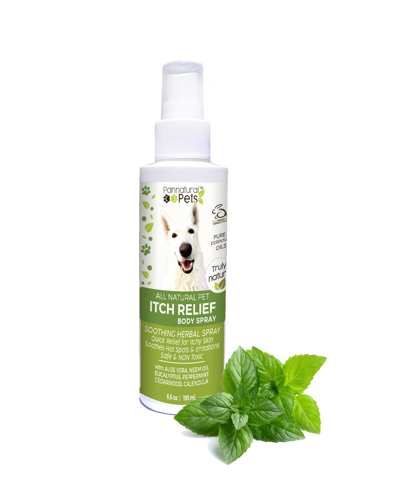 Pannatural Pet's Itch Relief Coat Spray 195ml