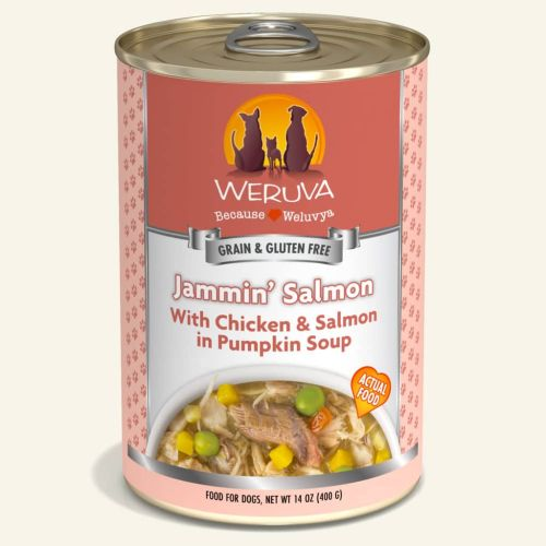 Weruva Jammin Salmon Can For Dogs – 400g